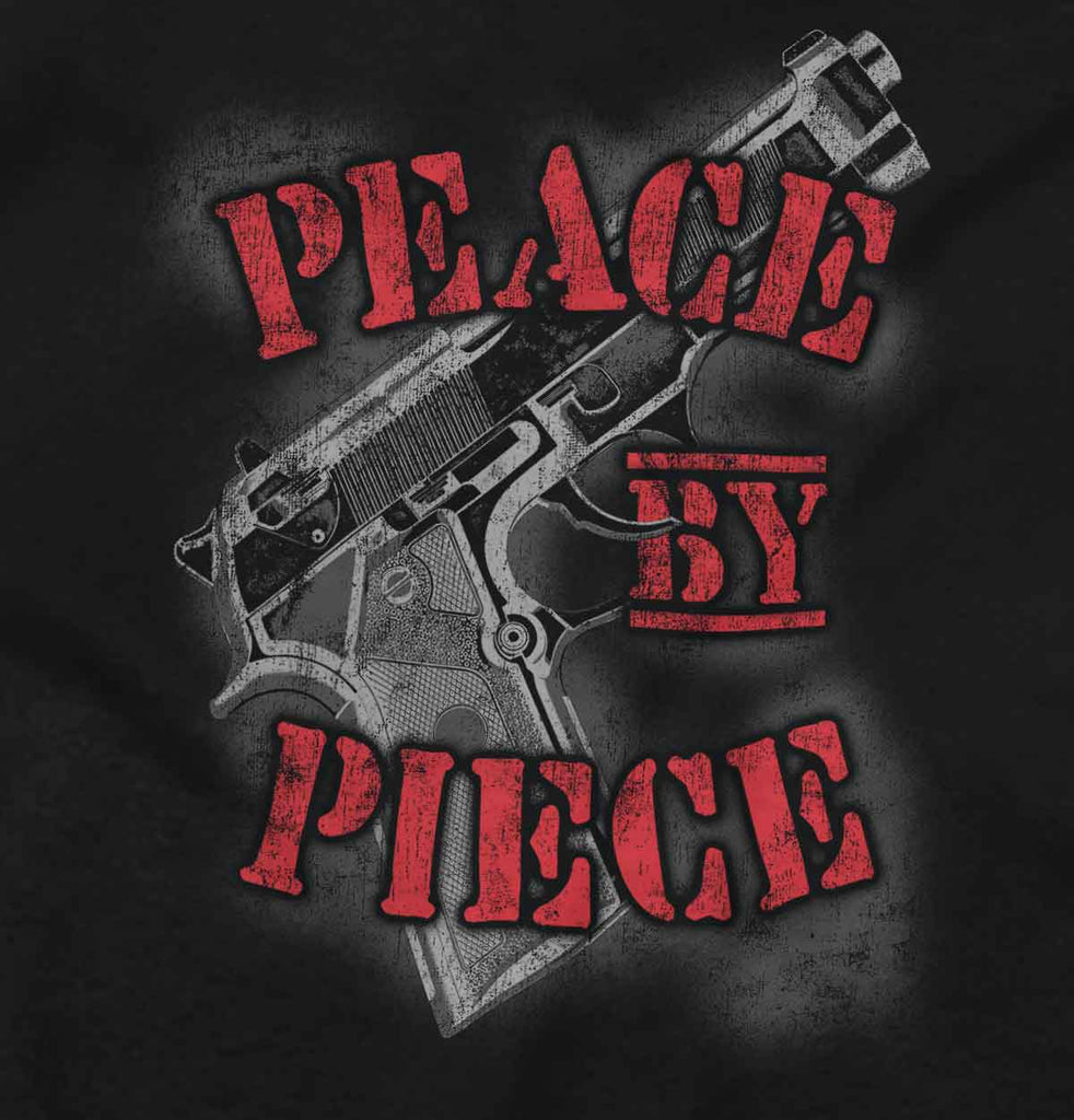Black2|Peace by Piece Junior Fit V-Neck T-Shirt|Tactical Tees