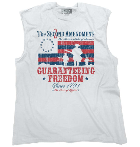White|Guaranteeing Freedom Sleeveless T-Shirt|Tactical Tees
