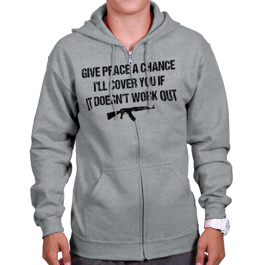 SportGrey|Peace a Chance Zip Hoodie|Tactical Tees