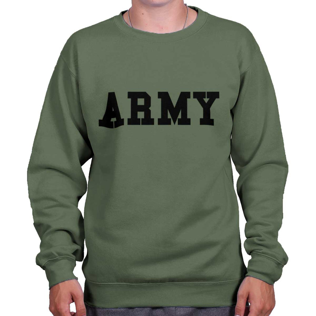 MilitaryGreen|Army Logo Crewneck Sweatshirt|Tactical Tees