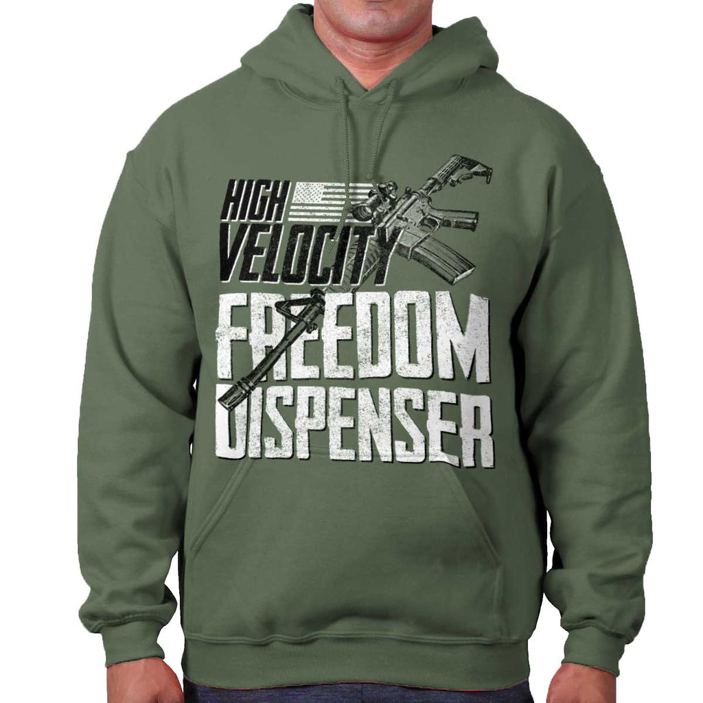 MilitaryGreen|Freedom Dispenser Hoodie|Tactical Tees