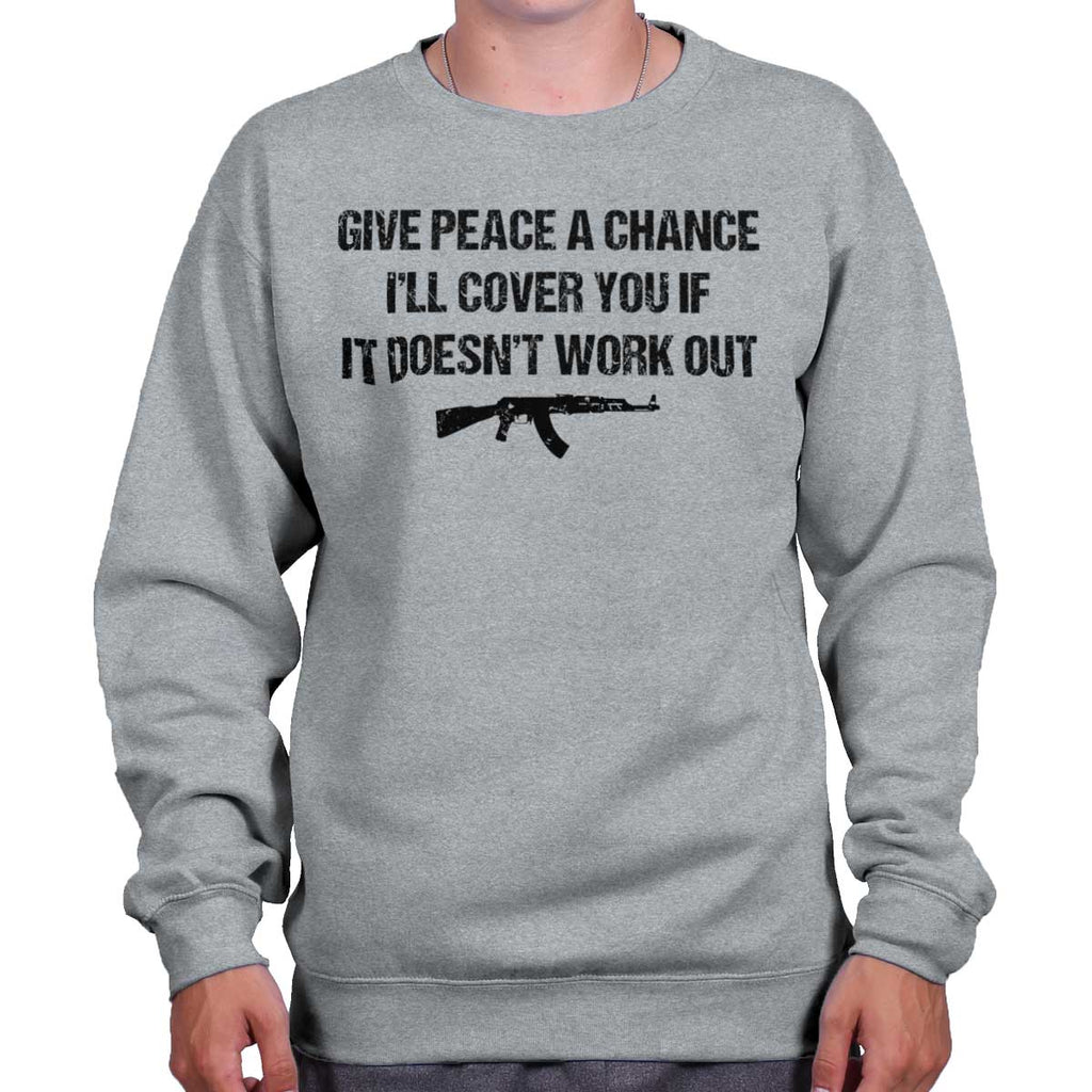 SportGrey|Peace a Chance Crewneck Sweatshirt|Tactical Tees