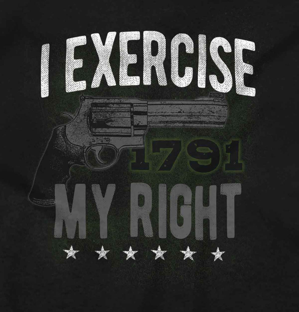 Black2|I exercise My Right Crewneck Sweatshirt|Tactical Tees