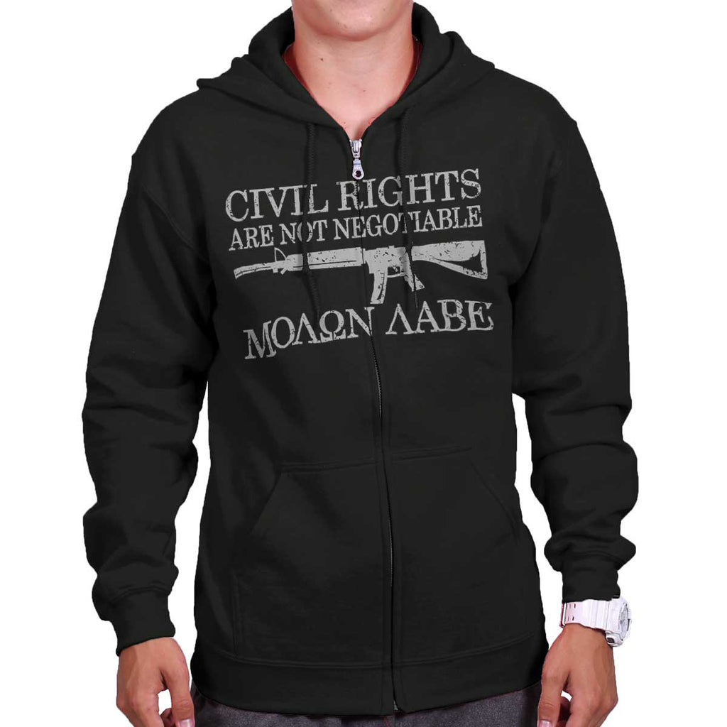 Black|Civil Rights Zip Hoodie|Tactical Tees