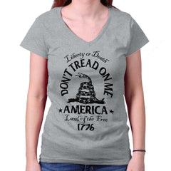 SportGrey|Dont Tread on Me Junior Fit V-Neck T-Shirt|Tactical Tees
