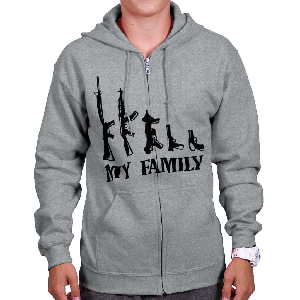 SportGrey|My Family Zip Hoodie|Tactical Tees