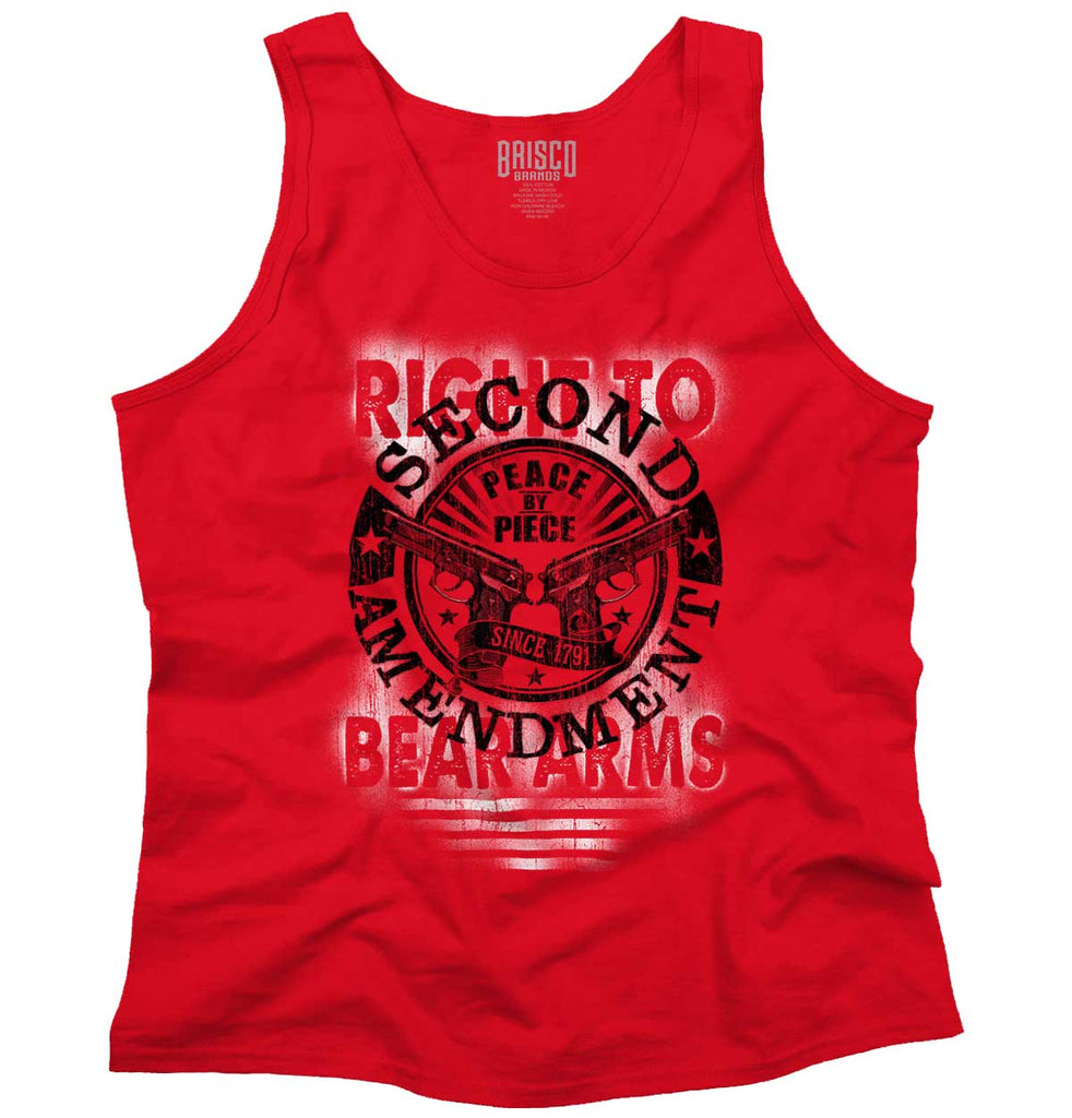 Red|Right To Bear Arms  AMaledMalet Tank Top|Tactical Tees