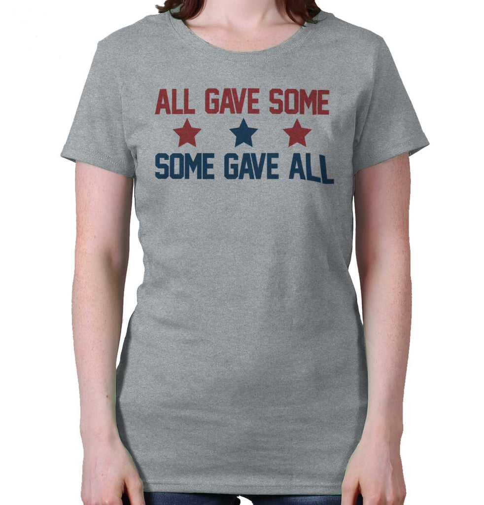 SportGrey|Some Gave All Ladies T-Shirt|Tactical Tees