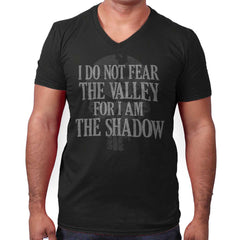 Black|I Am the Shadow V-Neck T-Shirt|Tactical Tees