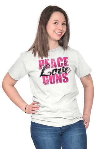 Female_White1|Peace Love Guns T-Shirt|Tactical Tees