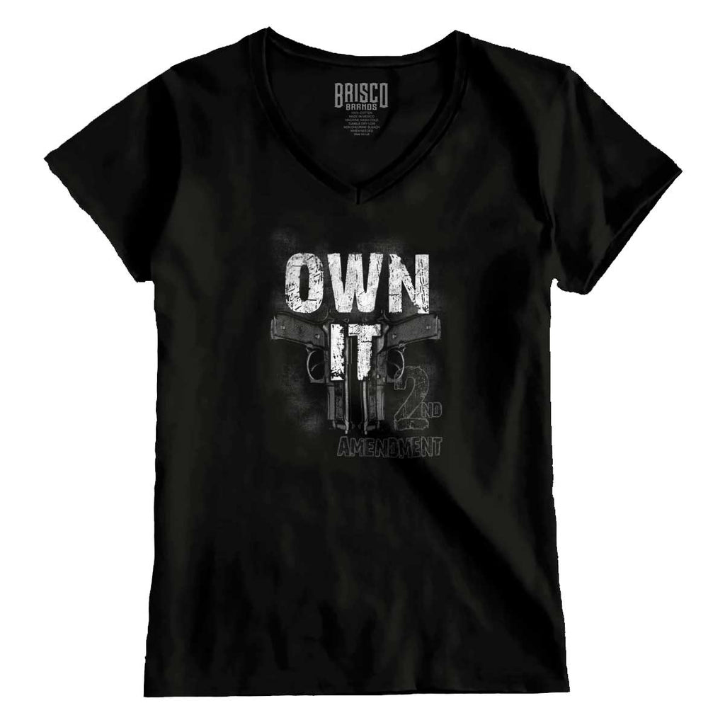 Black|Own It  AMaledMalet Junior Fit V-Neck T-Shirt|Tactical Tees