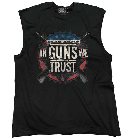 Black|In Guns We Trust Sleeveless T-Shirt|Tactical Tees