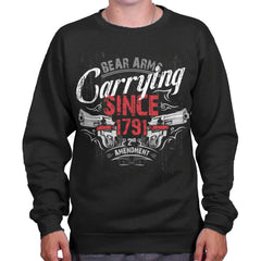 Black|Carrying Since Crewneck Sweatshirt|Tactical Tees