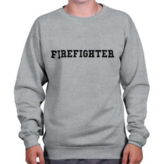 SportGrey|Firefighter Logo Crewneck Sweatshirt|Tactical Tees