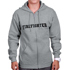 SportGrey|Firefighter Logo Zipper Hoodie|Tactical Tees