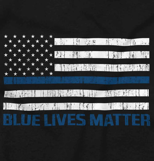 Black|Blue Lives Matter Flag T-Shirt|Tactical Tees