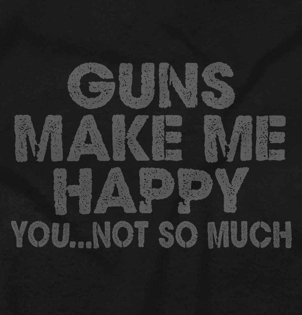 Black2|Guns Make Me Happy Crewneck Sweatshirt|Tactical Tees