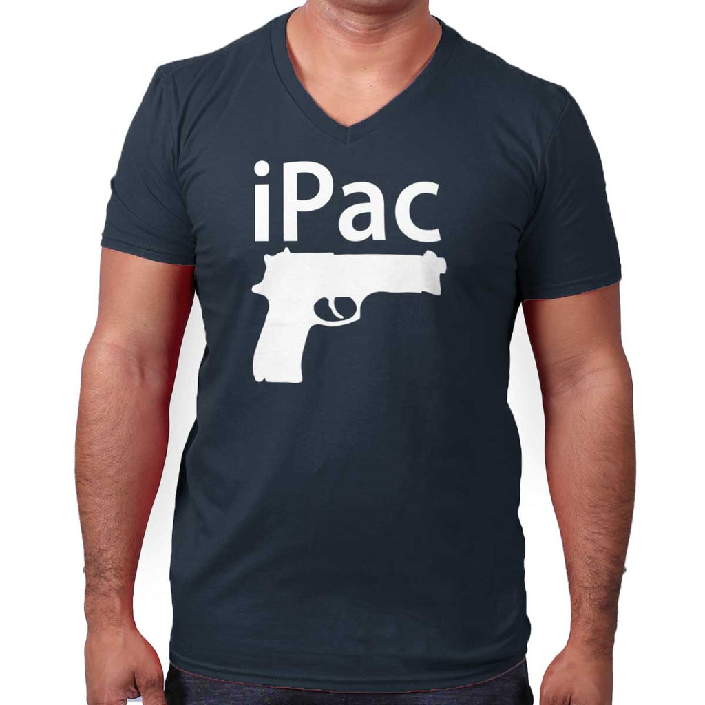 Navy|iPac V-Neck T-Shirt|Tactical Tees