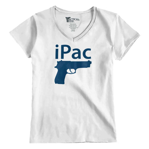 White|iPac Junior Fit V-Neck T-Shirt|Tactical Tees