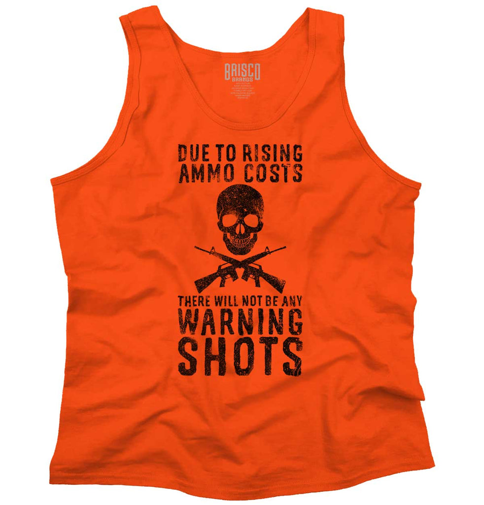 Orange|Warning Shots Tank Top|Tactical Tees
