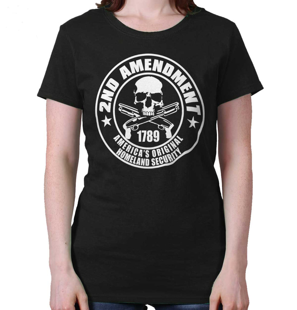 Black| Original Homeland Security Ladies T-Shirt|Tactical Tees