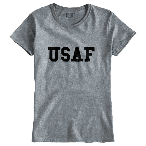 SportGrey|USAF Logo Ladies T-Shirt|Tactical Tees