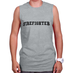 SportGrey|Firefighter Logo Sleeveless T-Shirt|Tactical Tees