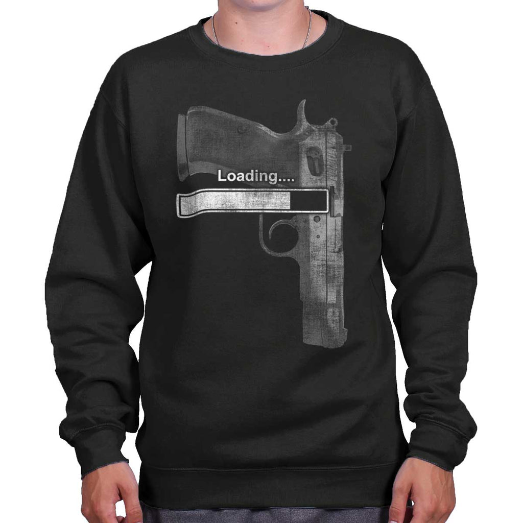 Black|Loading… Crewneck Sweatshirt|Tactical Tees