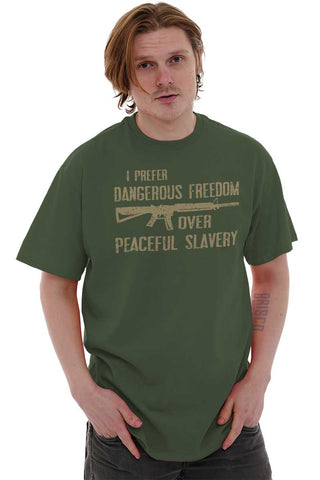 Male_MilitaryGreen1|Peaceful Slavery T-Shirt|Tactical Tees