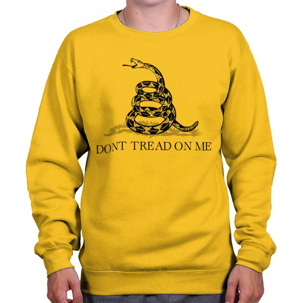 Gold|Don't Tread On Me Crewneck Sweatshirt|Tactical Tees