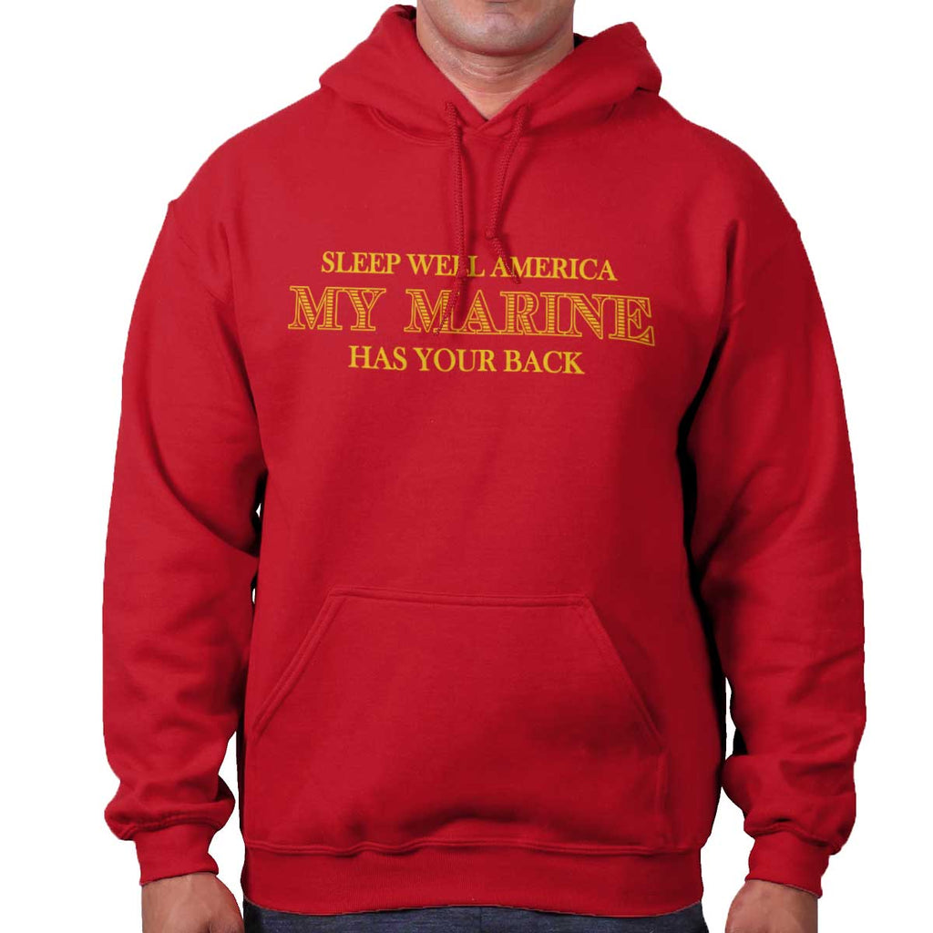 CherryRed|This Marine Has Your Back Hoodie|Tactical Tees