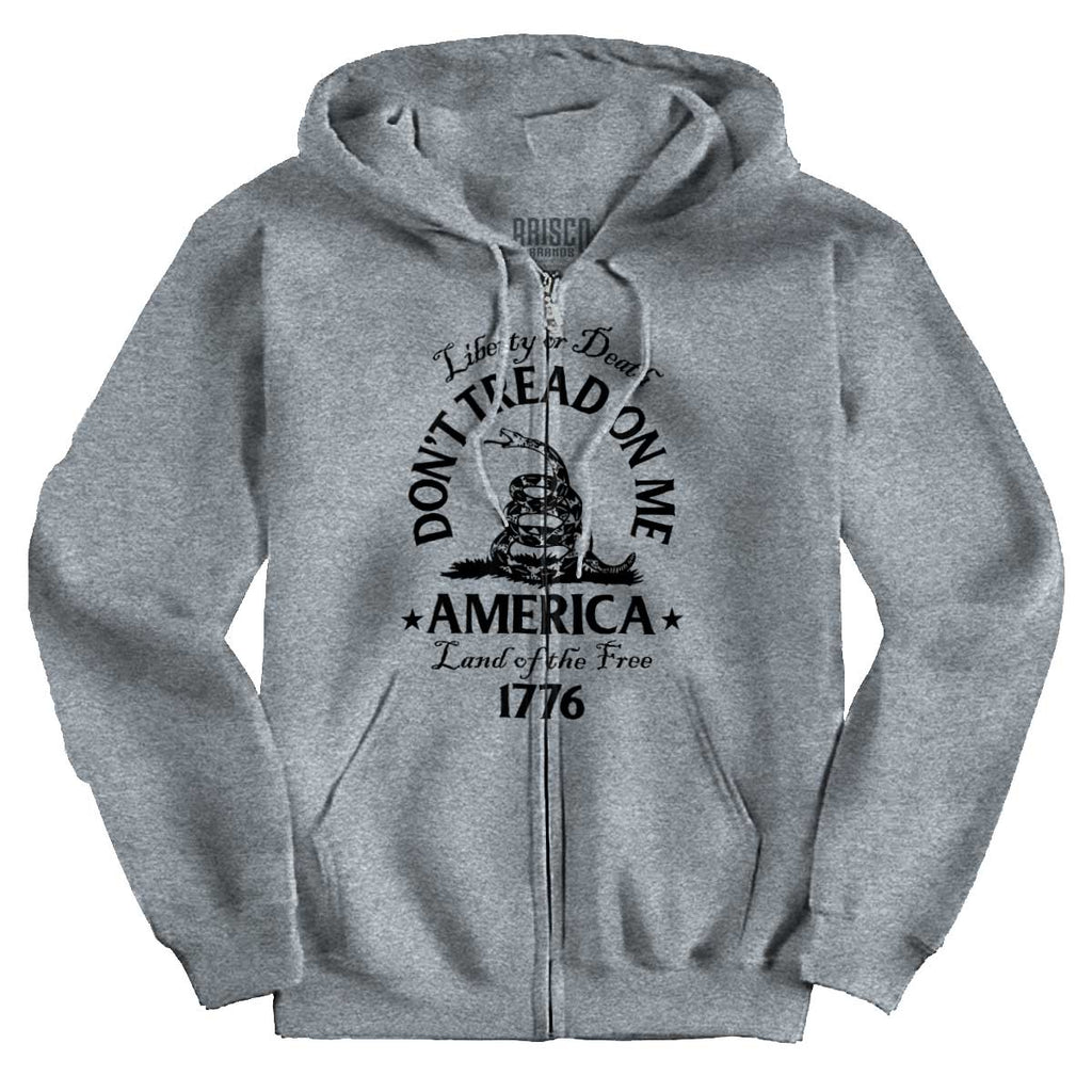 SportGrey|Dont Tread on Me Zip Hoodie|Tactical Tees