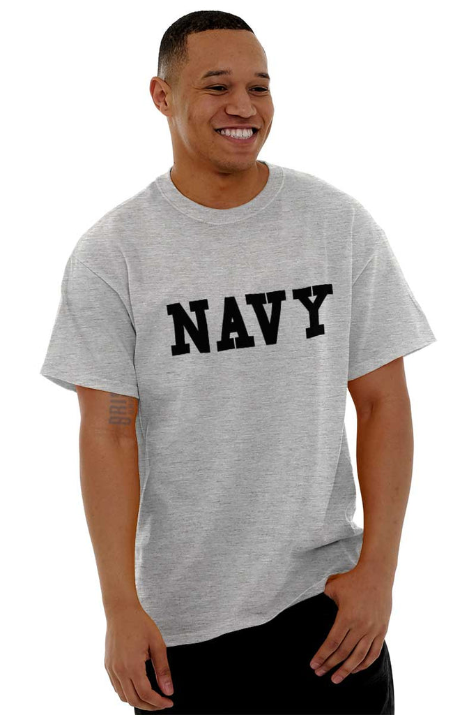 Male_SportGrey1|Navy Logo T-Shirt|Tactical Tees