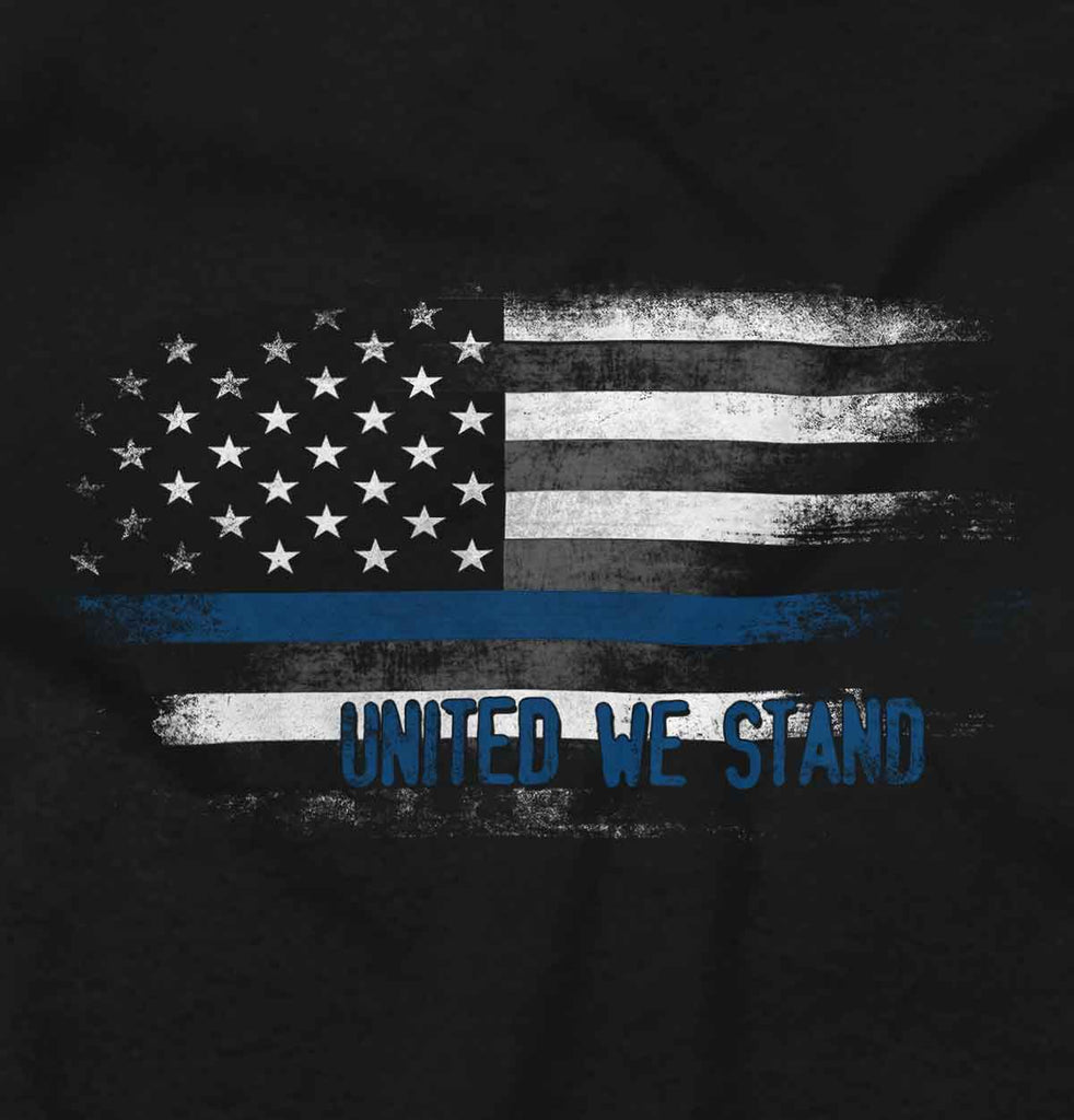 Black2|Blue Lives Matter Fade Junior Fit V-Neck T-Shirt|Tactical Tees