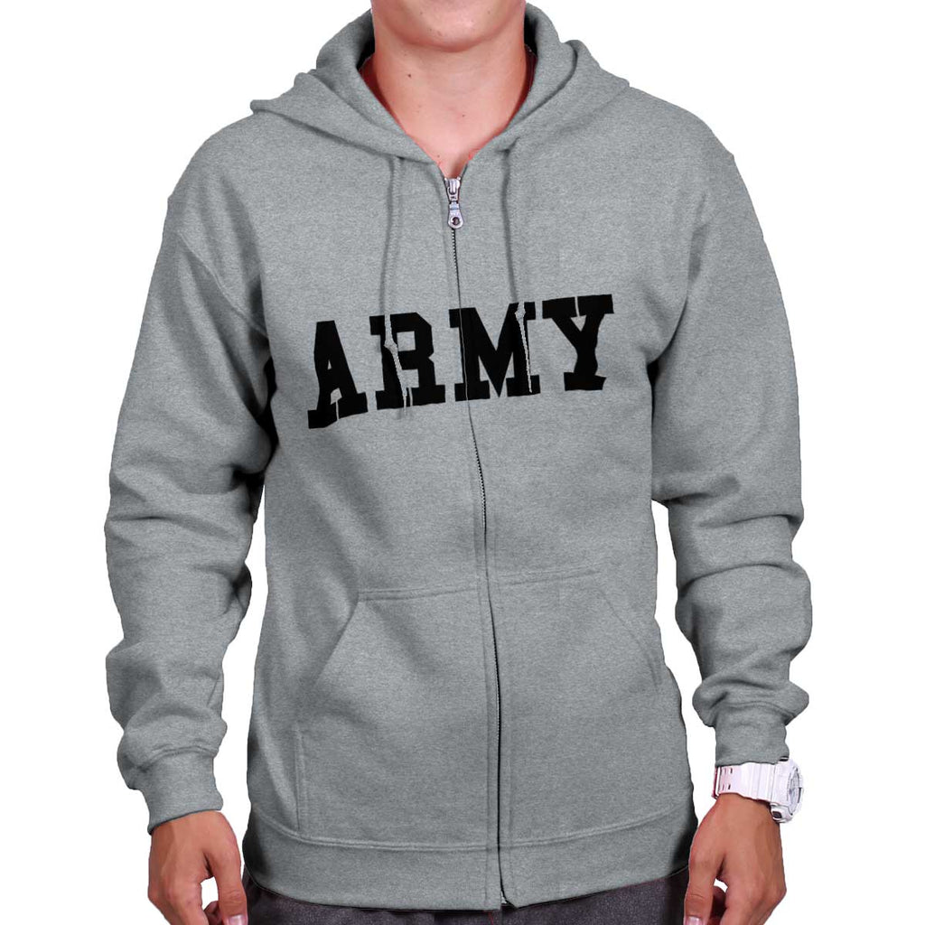 SportGrey|Army Logo Zipper Hoodie|Tactical Tees