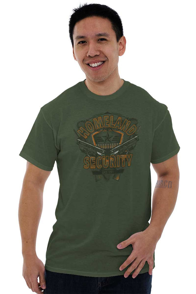 Male_MilitaryGreen2|Homeland Security T-Shirt|Tactical Tees