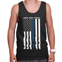 Black|Blue Lives Matter Vertical Tank Top|Tactical Tees