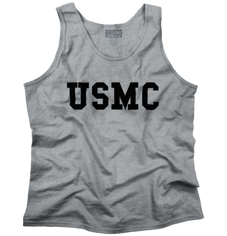 SportGrey|USMC Logo Tank Top|Tactical Tees
