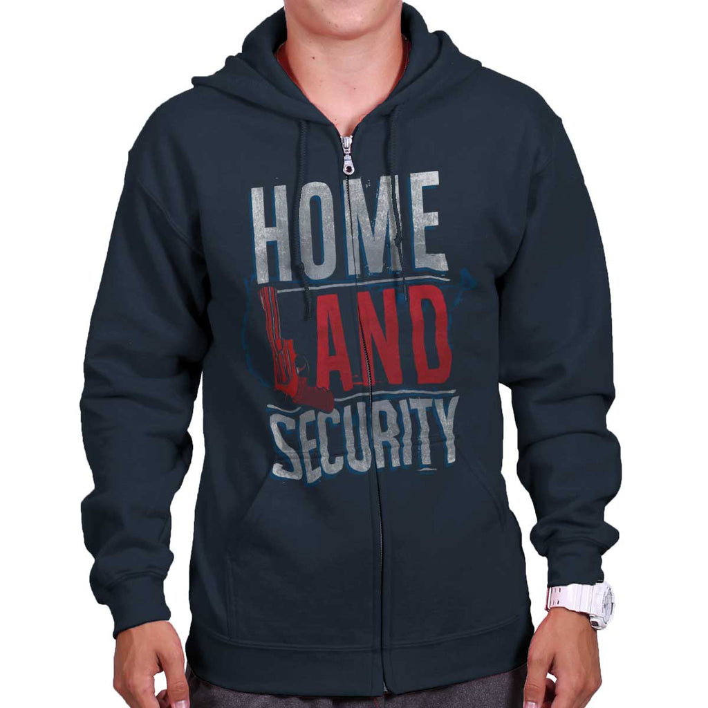 Navy|Homeland Security Zip Hoodie|Tactical Tees