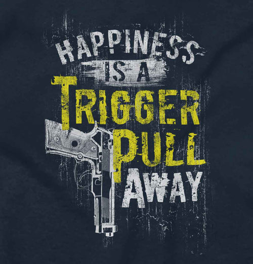 Navy2|Happiness is A Trigger Pull Away Crewneck Sweatshirt|Tactical Tees