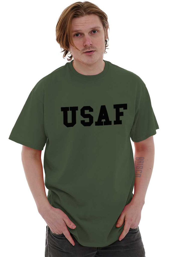 Male_MilitaryGreen1|USAF Logo T-Shirt|Tactical Tees