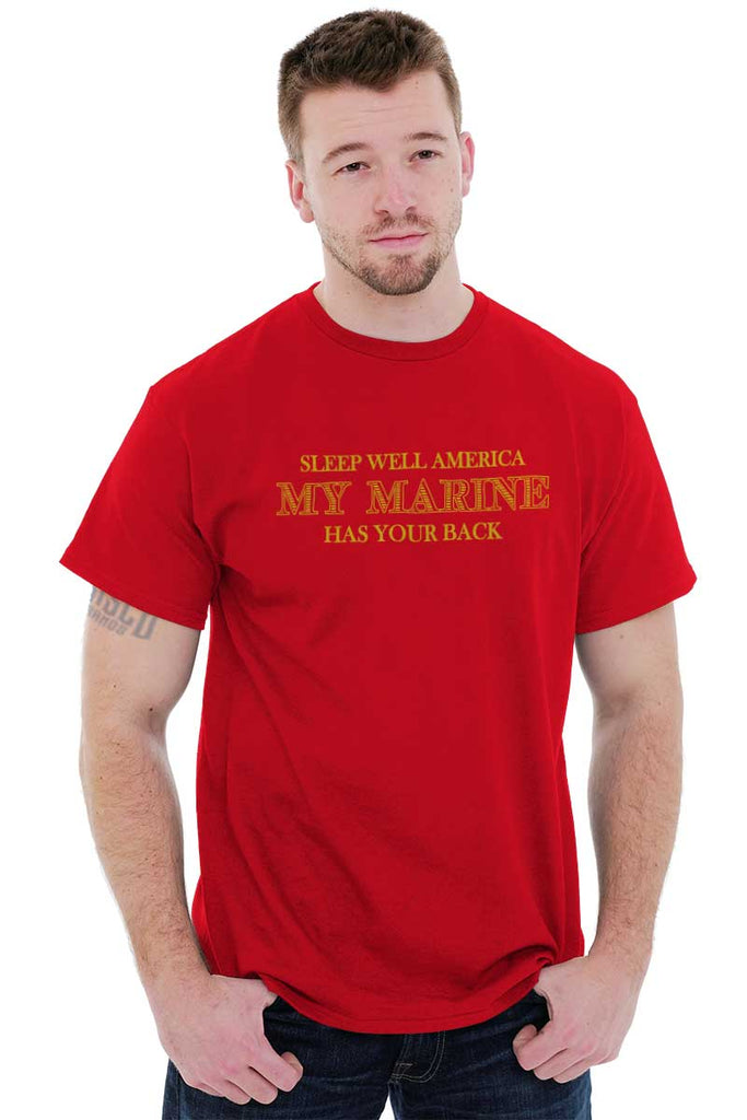 Male_Red1|This Marine Has Your Back T-Shirt|Tactical Tees