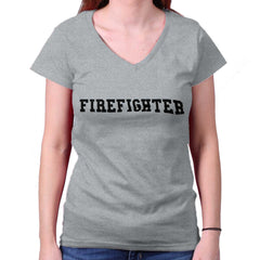 SportGrey|Firefighter Logo Junior Fitted V-Neck T-Shirt|Tactical Tees