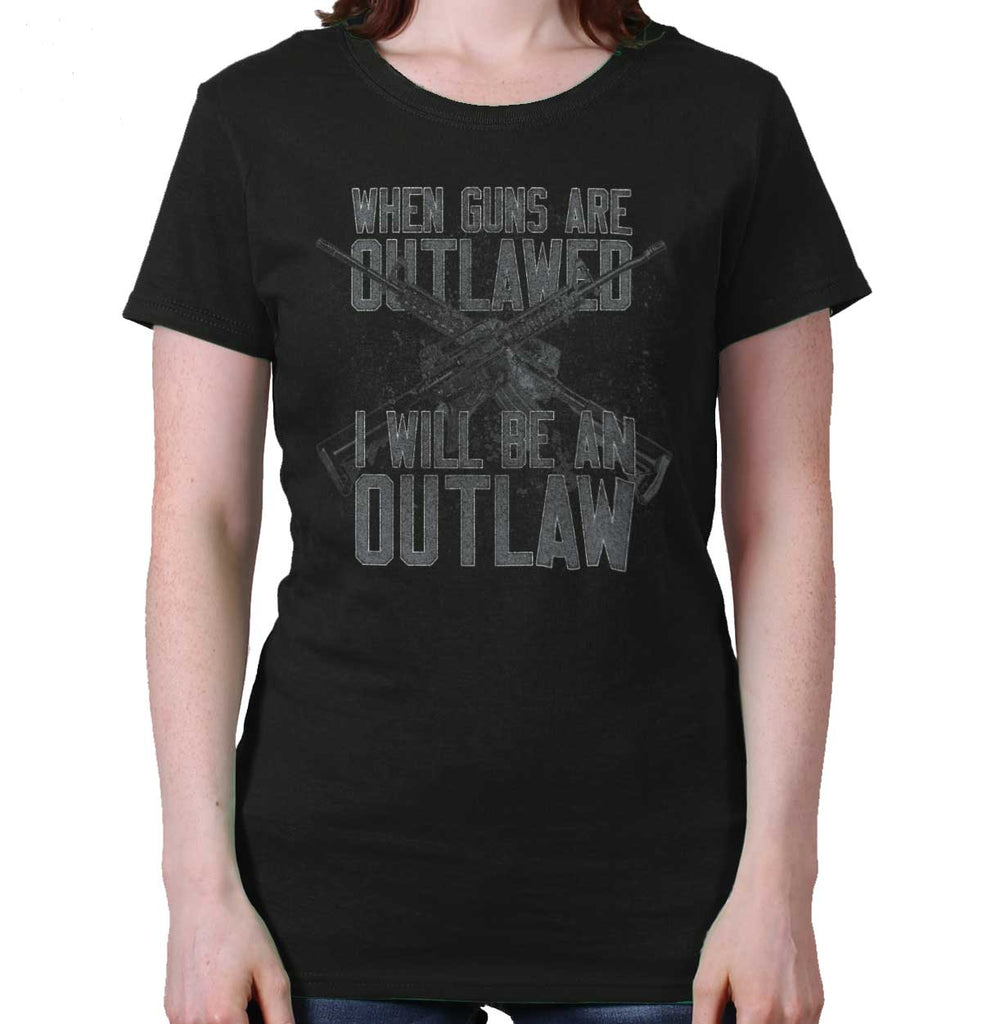 Black|Outlaw Ladies T-Shirt|Tactical Tees