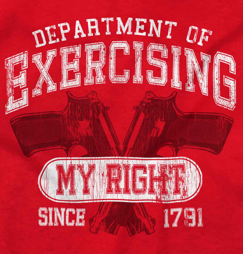 Red2|DepartMalet of Exercising My Right Ladies T-Shirt|Tactical Tees