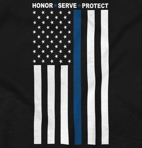 Black2|Blue Lives Matter Vertical Ladies T-Shirt|Tactical Tees