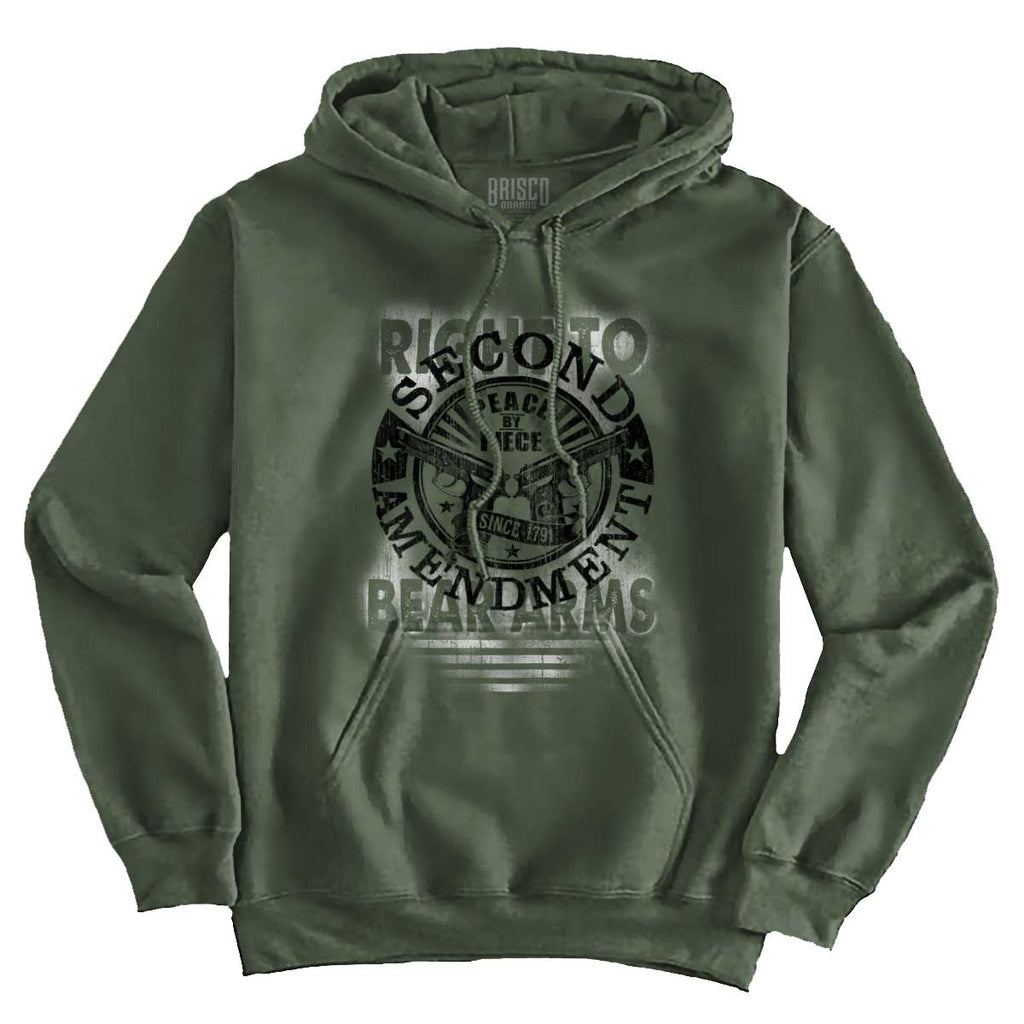 MilitaryGreen|Right To Bear Arms  AMaledMalet Hoodie|Tactical Tees