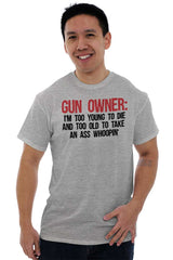 Male_SportGrey1|Gun Owner Too Young T-Shirt|Tactical Tees