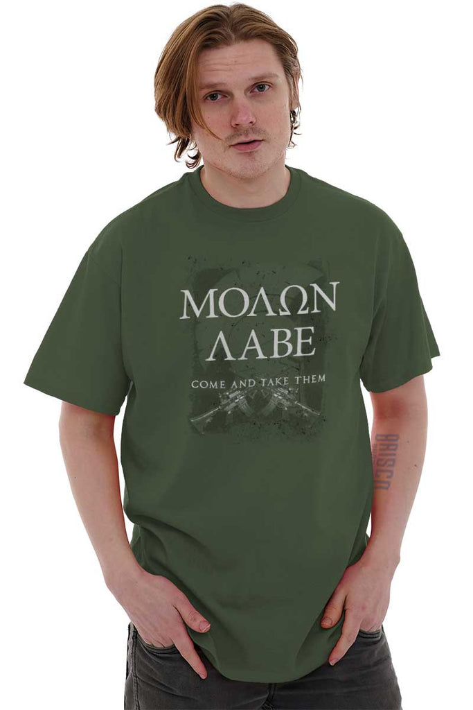 Male_MilitaryGreen2|Molon Labe T-Shirt|Tactical Tees