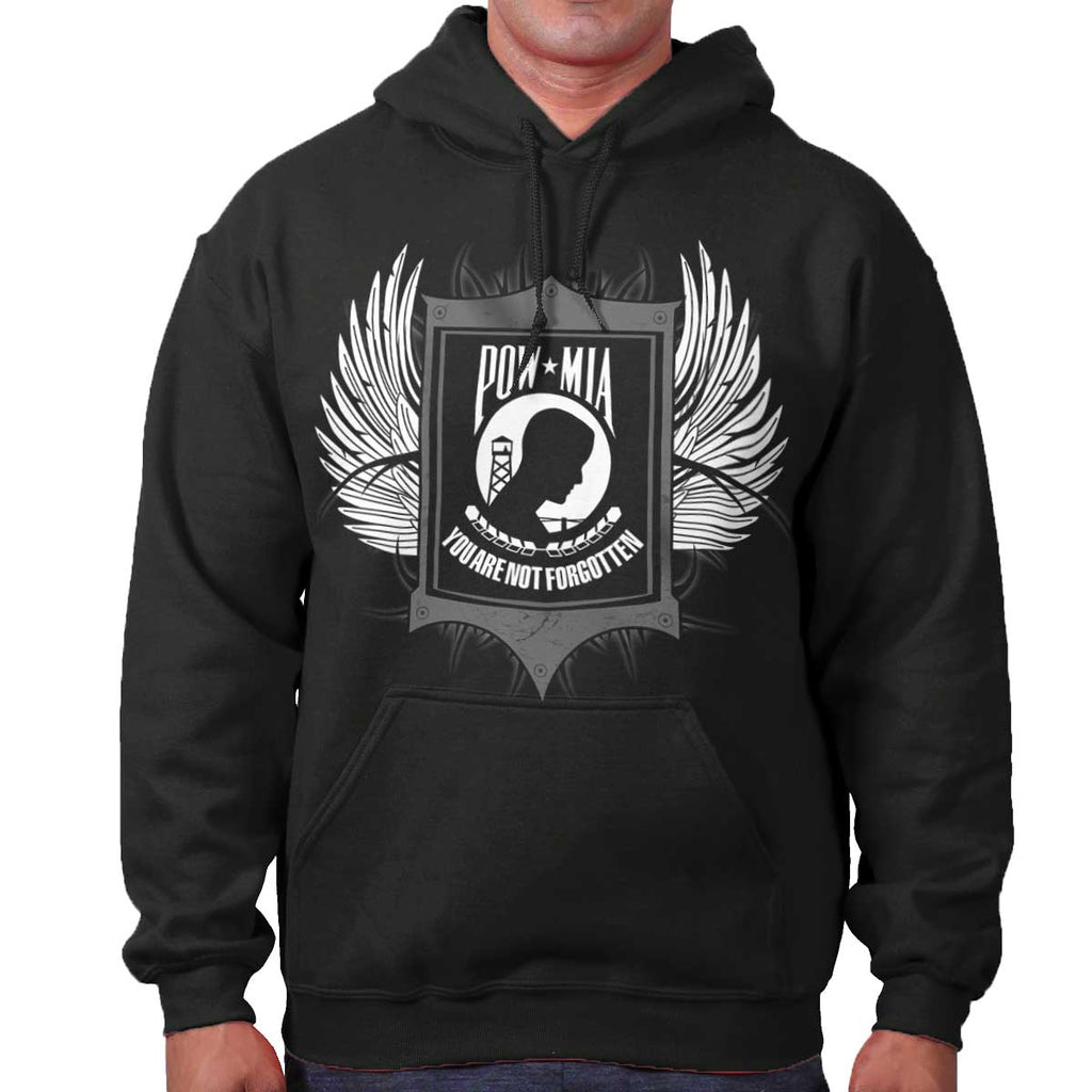 Black|POW MIA You Are Not Forgotten Hoodie|Tactical Tees